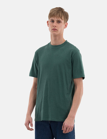Norse Projects James Cotton Linen T-Shirt - Kelp Green