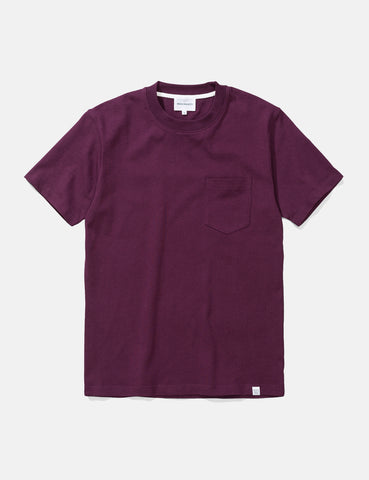 Norse Projects Johannes Pocket T-Shirt - Ritteri Purple