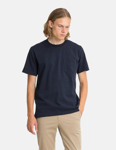 Norse Projects Johannes Pocket T-Shirt - Dark Navy Blue