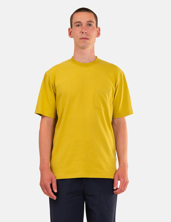 Norse Projects Johannes Pocket T-Shirt - Chartreus Green