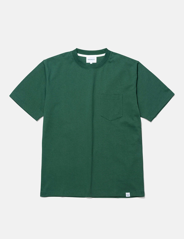 Norse Projects Johannes Pocket T-Shirt - Dartmouth Green
