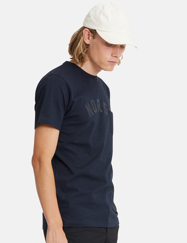 Norse Projects Niels Classic Ivy Logo T-Shirt - Dark Navy Blue