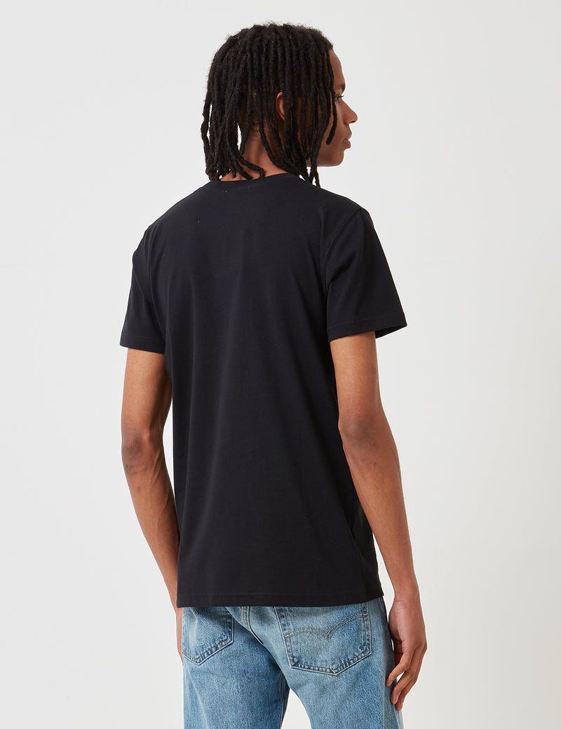 Norse Projects Niels Coordinates Logo T-Shirt - Black