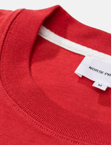 Norse Projects Johannes Block Stripe T-Shirt - Askja Red