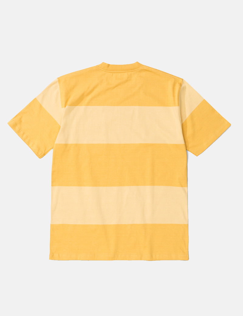Norse Projects Johannes Block Stripe T-Shirt - Sunwashed Yellow