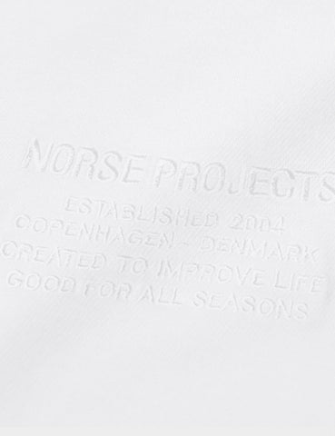 Norse Projects Niels Centre Logo T-Shirt - White
