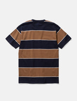 Norse Projects Johannes 3 Stripe T-Shirt - Russet