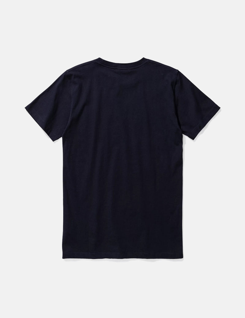 Norse Projects Niels Mountains T-Shirt - Dark Navy Blue