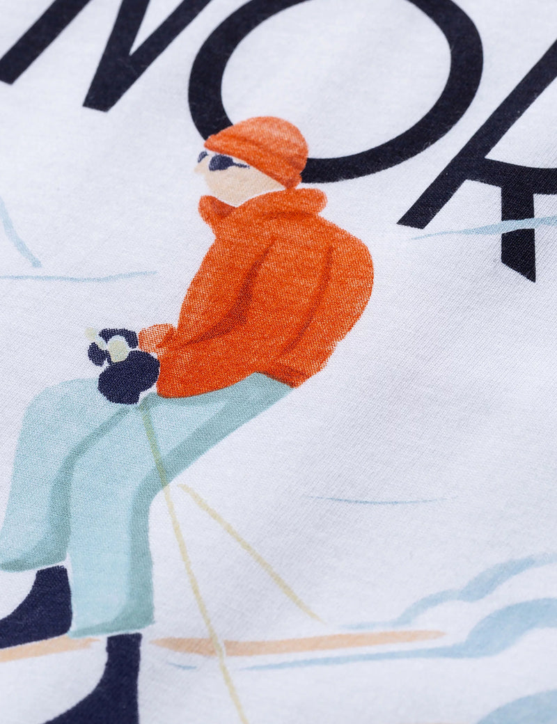 Norse Projects X Daniel Frost Racing Skier T-Shirt - White