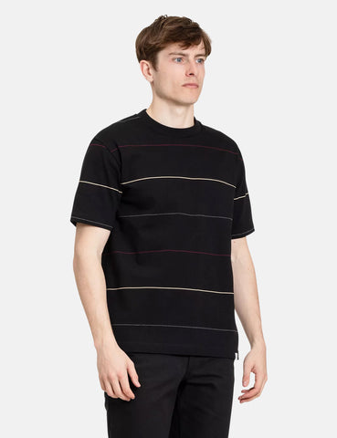 Norse Projects Johannes Thin Stripe T-Shirt - Black