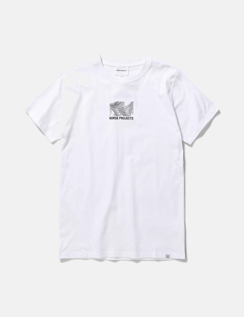 Norse Projects Niels Small Topo Logo T-Shirt - White