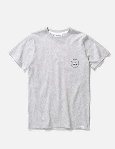 Norse Projects Niels Wave Emblem T-Shirt - Light Grey Melange