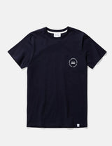 Norse Projects Niels Wave Emblem T-Shirt - Dark Navy Blue