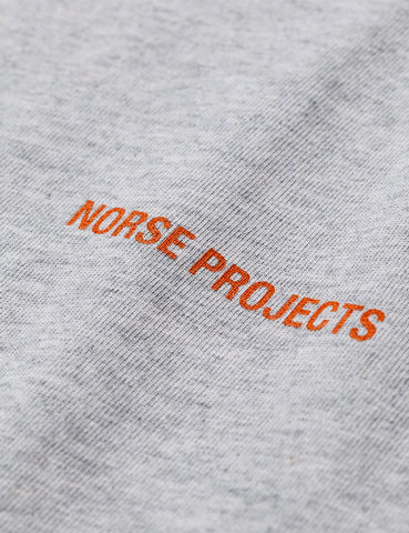 Norse Projects Logo T-Shirt - Light Grey Melange