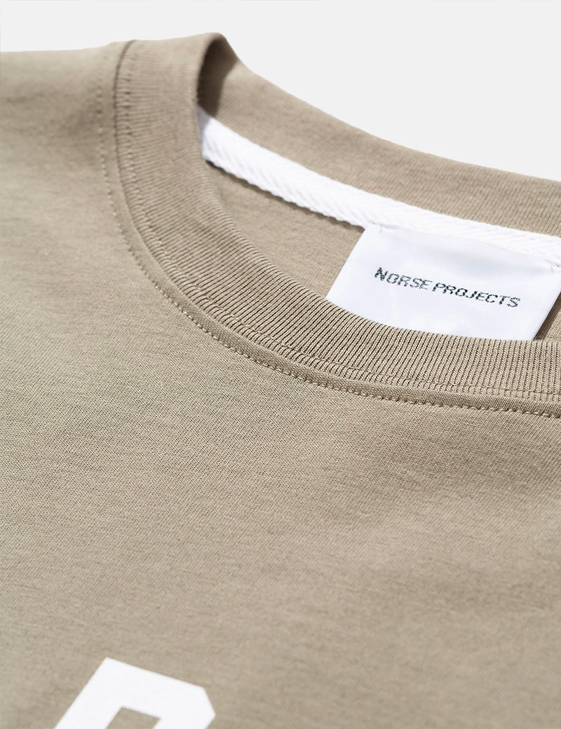 Norse Projects Niels Ivy Logo Pocket T-Shirt - Washed Kelp