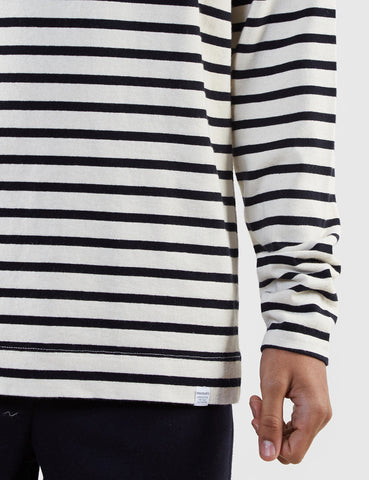 Norse Projects Godtfred Breton Top - Ecru/Navy