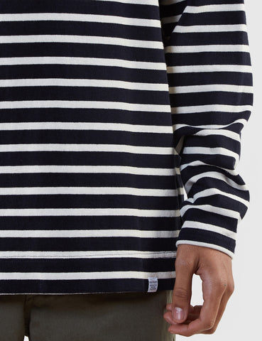 Norse Projects Godtfred Brteton Top - Navy/Ecru