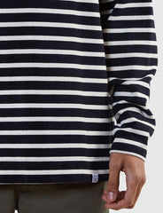 Norse Projects Godtfred Breton Top - Navy/Ecru