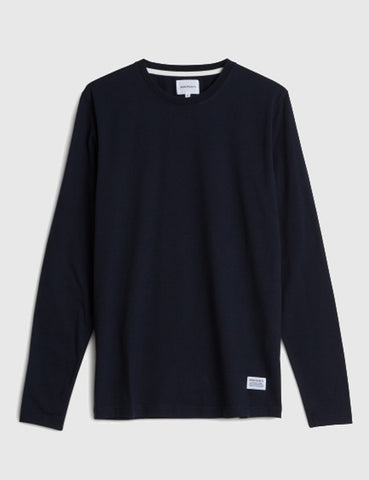 Norse Projects Niels Basic Long Sleeve T-Shirt - Navy