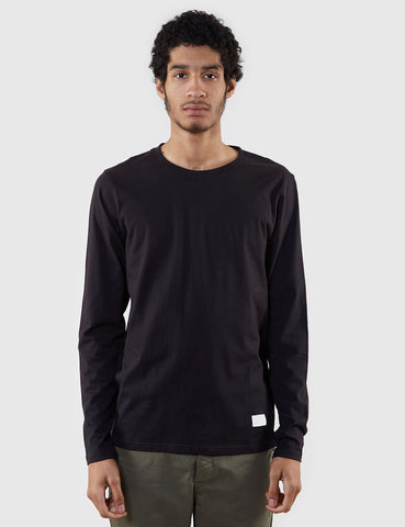 Norse Projects Niels Basic Long Sleeve T-Shirt - Black