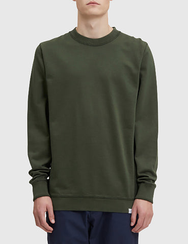 Norse Projects Vagn Mercerised Sweatshirt - Forest Green