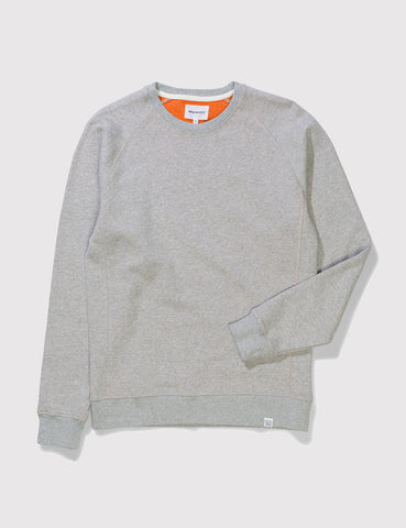 Norse Projects Ketel Double Face Sweatshirt - Light Grey