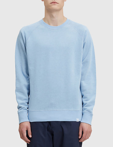 Norse Projects Ketel Double Face Sweatshirt - Sky Blue
