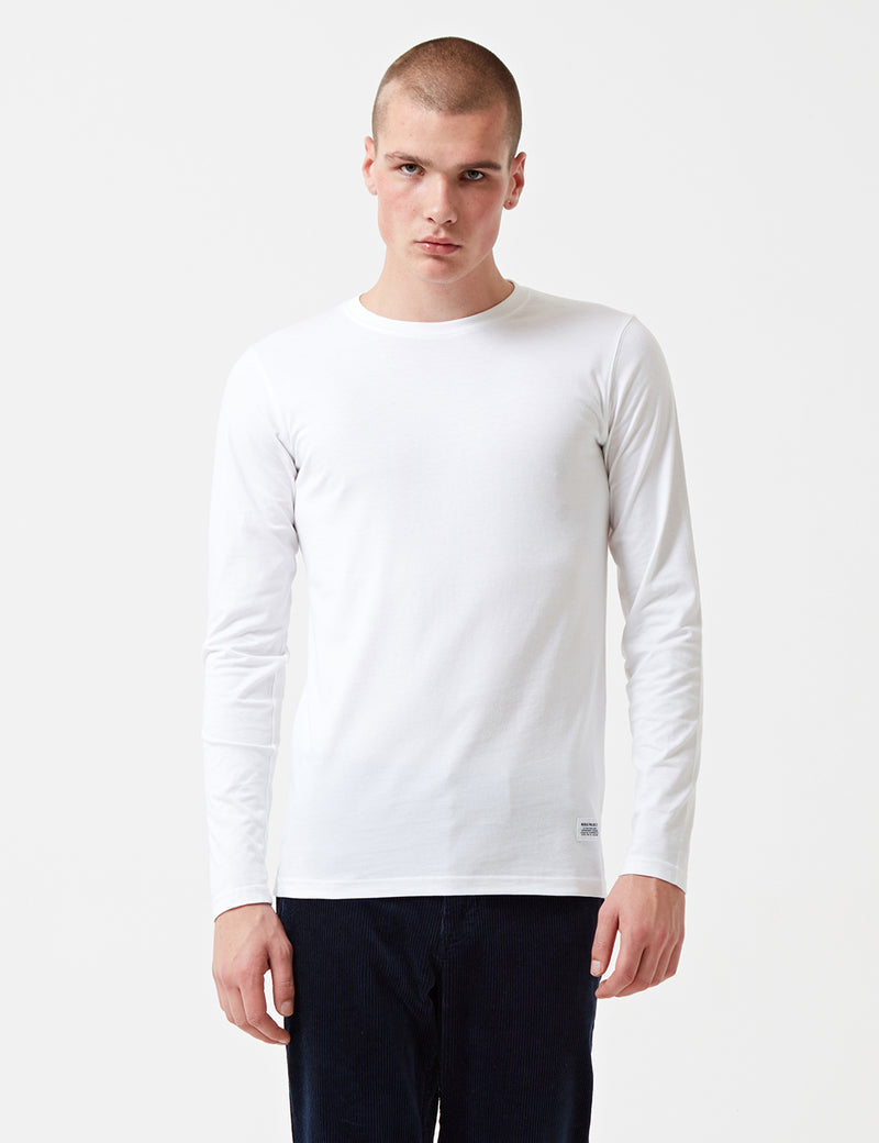 Norse Projects Niels Basic Long Sleeve T-Shirt - White