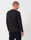 Norse Projects Niels Standard Long Sleeve T-Shirt - Black
