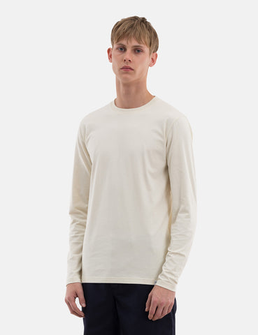 Norse Projects Niels Standard Long Sleeve T-Shirt - Kit White