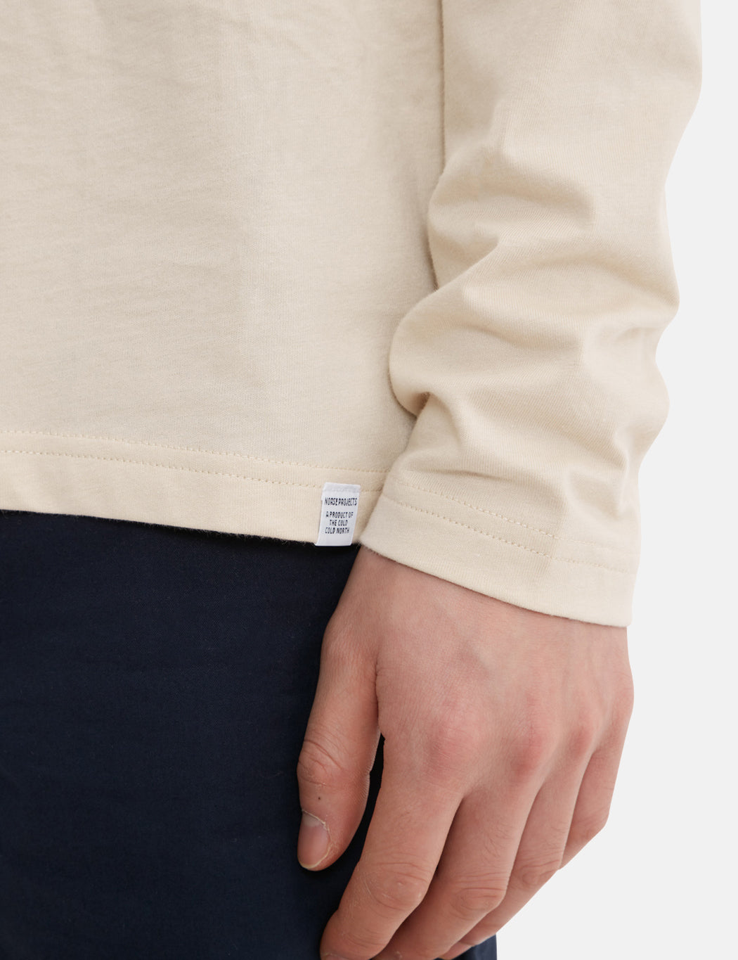 Norse Projects Niels Standard Long Sleeve T-Shirt - Sand