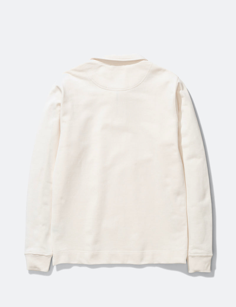 Norse Projects Jorn Half Zip Sweatshirt - Ecru