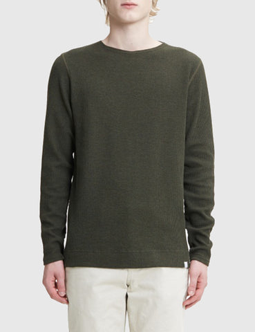 Norse Projects Godtfred Long Sleeve T-Shirt - Dried Olive