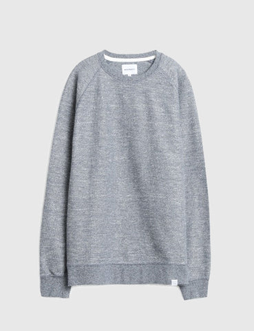 Norse Projects Ketel Mouline Sweatshirt - Cornflower Blue