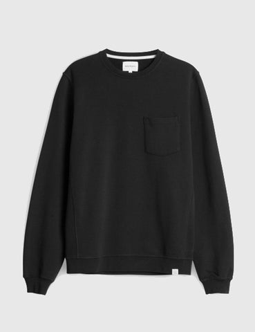 Norse Projects Visby Pocket Sweatshirt - Black