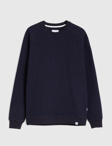 Norse Projects Vagn Fleece Jumper - Dark Indigo