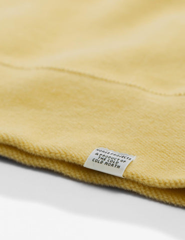 Norse Projects Ketel Brushed Sweat - Strand Yellow