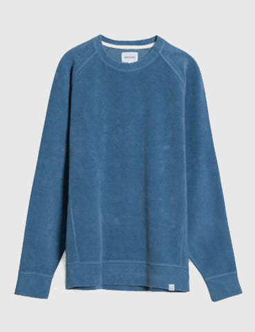 Norse Projects Ketel Brushed Sweat - Marginal Blue