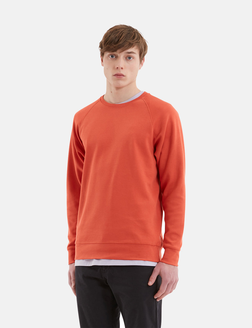 Norse Projects Vorm Summer Interlock Sweat - Burned Red