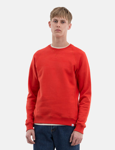 Norse Projects Ketel Summer Classic Sweatshirt - Coral Red