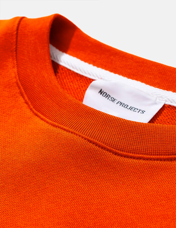 Norse Projects Vagn Classic Sweatshirt - Golden Orange