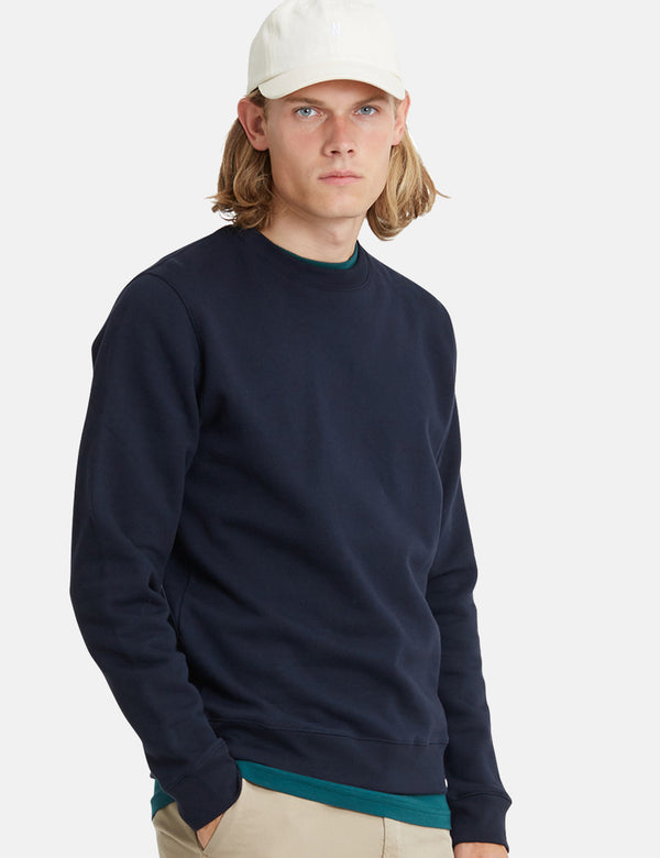 Norse Projects Vagn Classic Sweatshirt - Dark Navy Blue