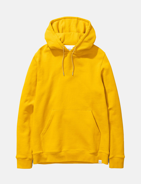 Norse Projects Vagn Classic Hooded Sweatshirt - Montpellier Yellow