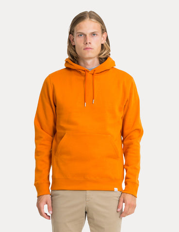 Norse Projects Vagn Classic Hooded Sweatshirt - Oxide Orange