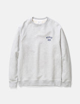 Norse Projects Ketel Ivy Wave Logo Sweatshirt - Light Grey Melange