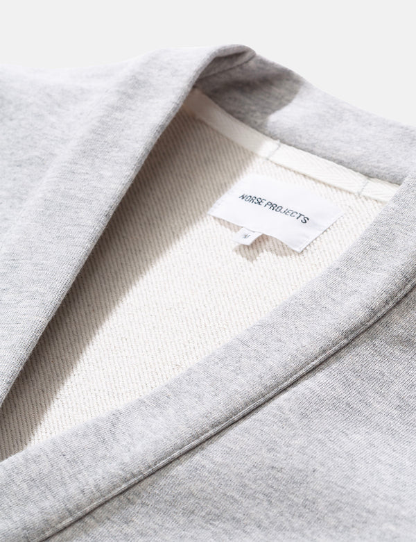 Norse Projects Vidar Sweat Cardigan - Hellgrau Melange