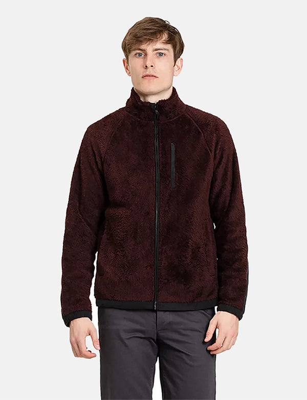 Norse Projects Tycho Zip Fleece - Mulberry Red