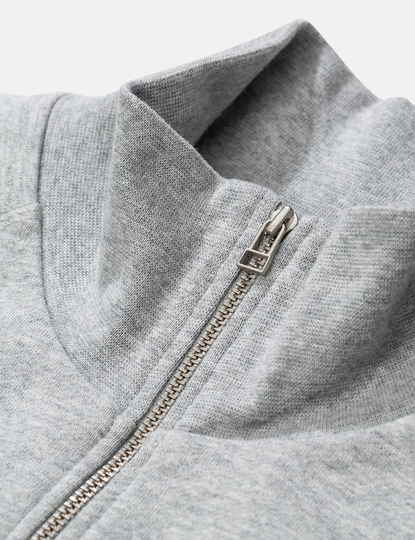 Norse Projects Alfred Light Sweatshirt (1/4 Zip) - Light Grey Melange