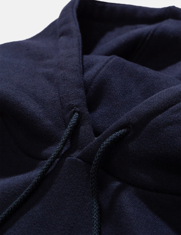 Norse Projects Vagn Logo Hooded Sweatshirt - Dark Navy Blue