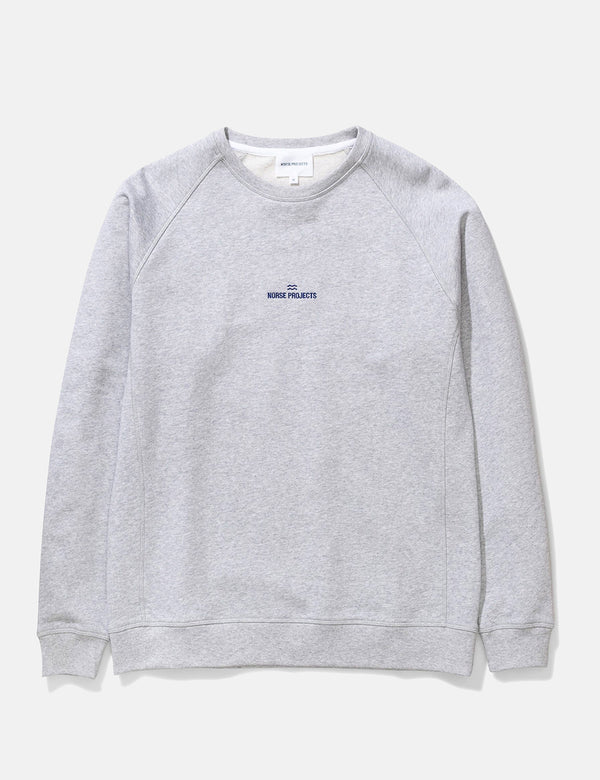 Sweat à Logo Vague Ketel Norse Projects - Gris Clair Chiné